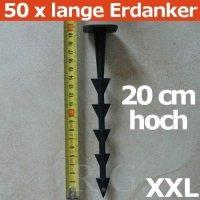 50 Bodenanker 20cm XXL für Unkrautvlies Gartenfolie