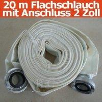 20m Bauschlauch Feuerwehrschlauch Flachschlauch 2 Zoll