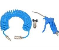Druckluftpistole mit Schlauch Spiral für LKW KFZ SET