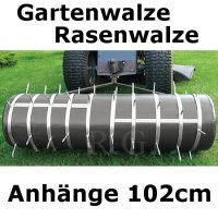 Gartenwalze Rasenwalze in schwarz 1,02 m