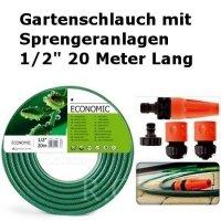 Gartenschlauch Econ mit Sprengeranlagen 1/2 20 Meter Lang