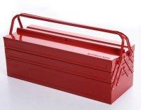Werkzeugkoffer Werkzeugkasten Stahlblech 530mm 5 Fächer rot