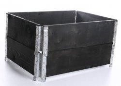 Palettenrahmen Aufsatzrahmen Hochbeet 60x60cm schwarz