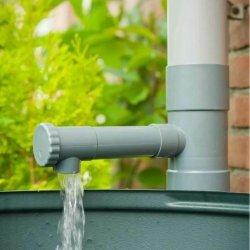 Regensammler Wassersammler Fallrohfilter Regenauffänger 100mm in Grau Wasserdieb