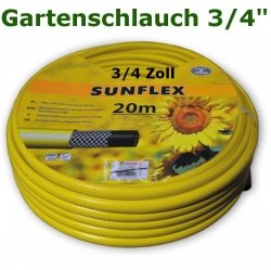 """Gartenschlauch Sunflex 3/4"""" 20 Meter Lang"""