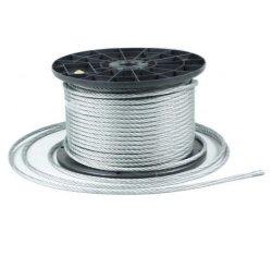 50m Stahlseil Drahtseil galvanisch verzinkt Seil Draht 6mm 6x19