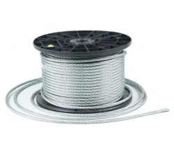 1m Stahlseil Drahtseil galvanisch verzinkt Seil Draht 8mm 6x19