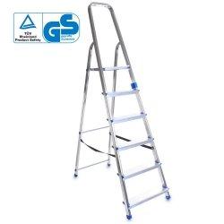 Leiter Aluleiter Einseitige Klappleiter 6 Stufen