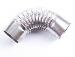 Ofenknie Bogen 90° Knie Ofenrohr Winkel 130 mm