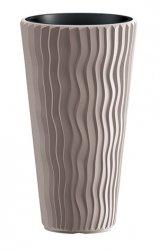 Blumentopf Pflanzkübel 3D Effect Sandy Slim 400 mocca