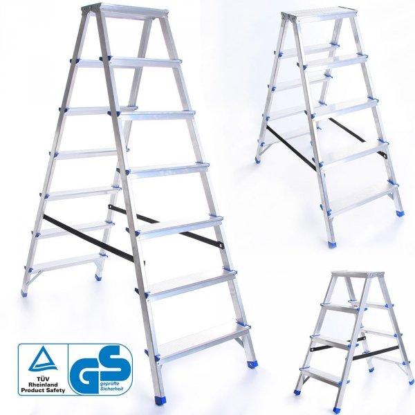 Leiter Aluleiter Zweiseitige Klappleiter 3 Stufen