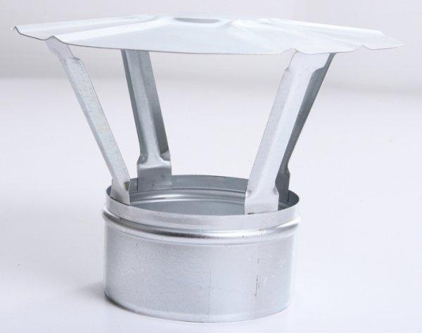 Regenhaube Regenhut Einsteck für Ofenrohre Kamin verzinkt 120