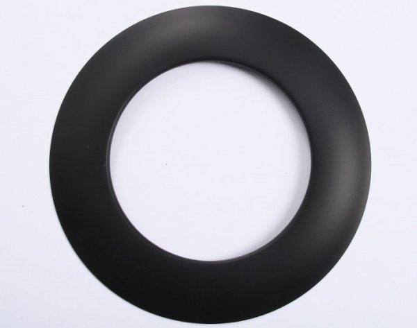 Rosette Wandrosette für Ofenrohre schwarz 200