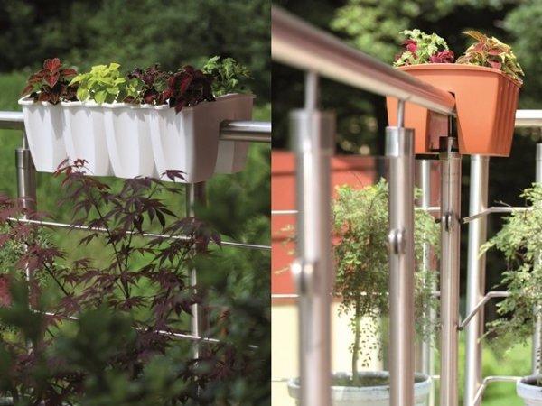 Blumenkasten Balkonkasten crown 600 anthrazit