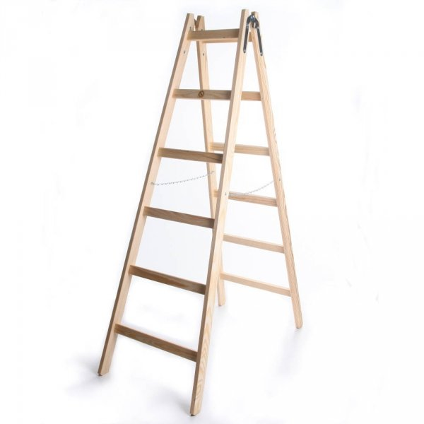 Leiter Holzleiter Klappleiter Haushaltsleiter 6 Stufen Standard