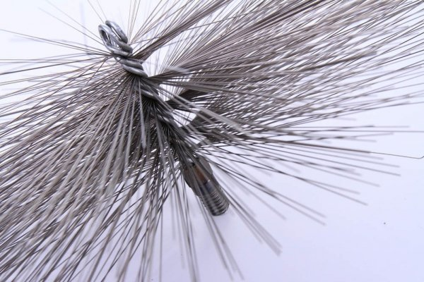 Schornsteinbesen Kaminbesen aus Stahl 40cm