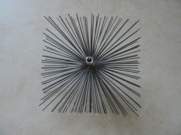 Schornsteinbesen Quadrat Kaminbesen aus Stahl 24 x 24cm