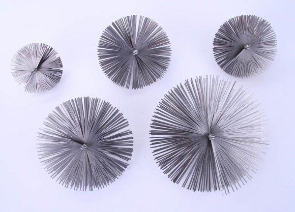 Schornsteinbesen Kaminbesen aus Federstahl 35cm