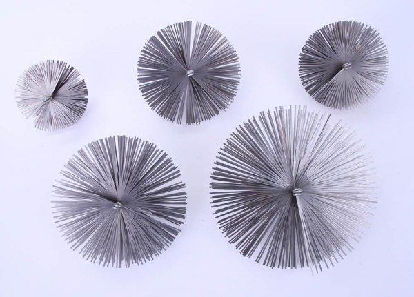 Schornsteinbesen Kaminbesen aus Federstahl 40cm