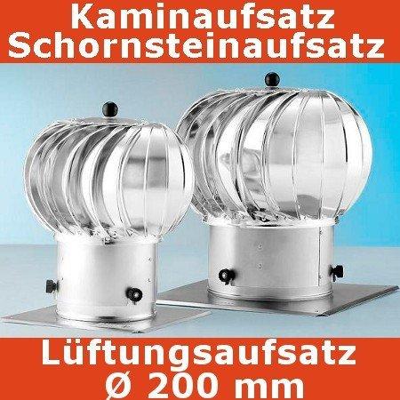 Turbo Kaminaufsatz Schornsteinaufsatz 200 mm