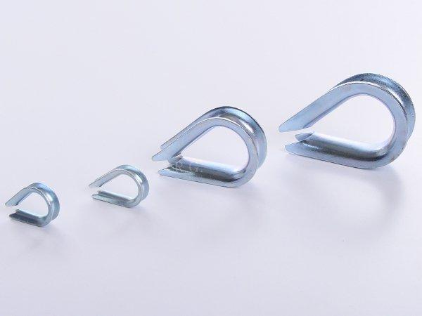 10x Kauschen Kausche für Stahlseil 5 mm