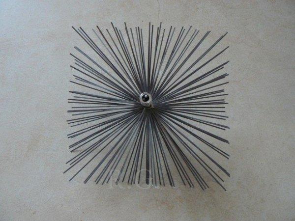 Schornsteinbesen Quadrat Kaminbesen aus Stahl 22 x 22cm