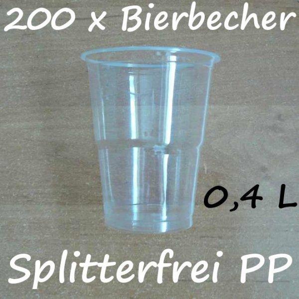 200 Bierbecher 0,4 L Transparent