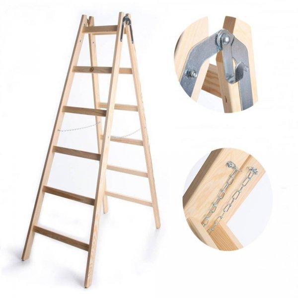 Leiter Holzleiter Klappleiter Haushaltsleiter 5 Stufen Standard