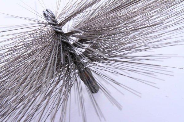 Schornsteinbesen Kaminbesen aus Stahl 25cm