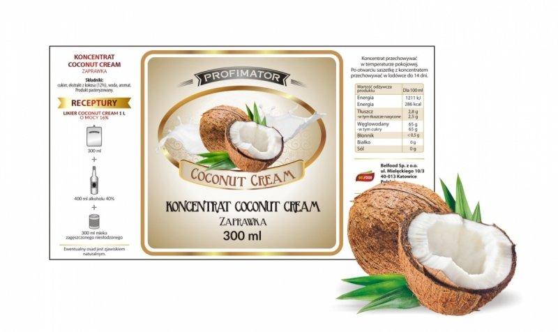 Zaprawka na likier COCONUT CREAM 300ml/1l