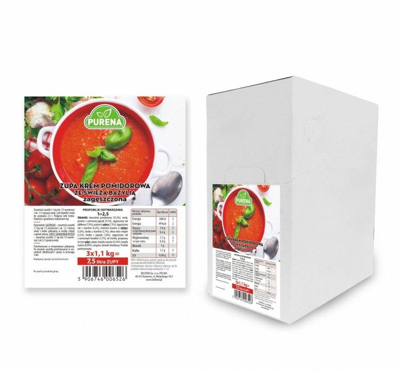 Zupa krem pomidorowa zagęszczona 3x1 kg = 7,5 l zupy