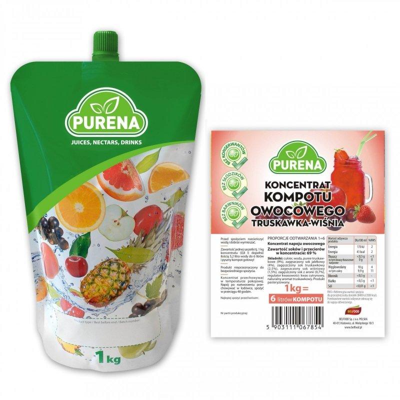 Kompot truskawka-wiśnia koncentrat 6l/1kg