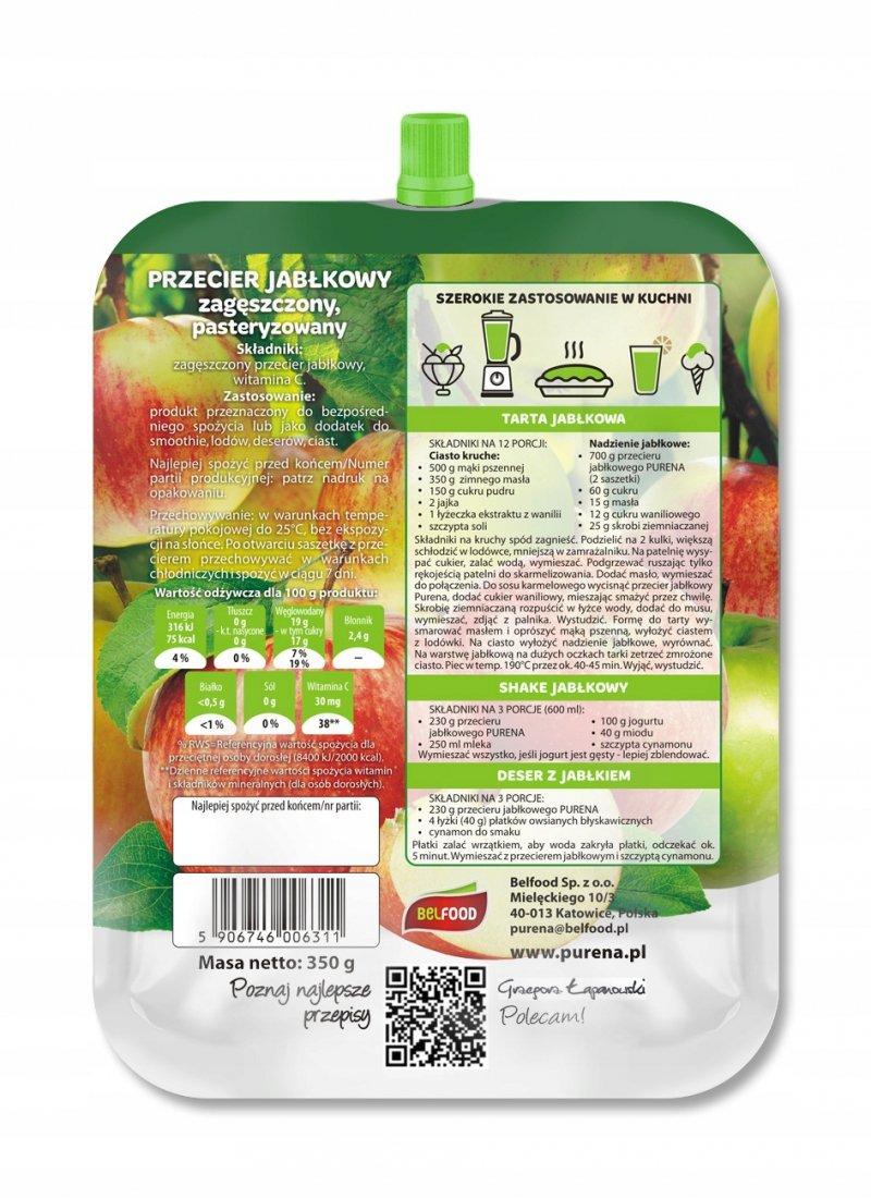 Przecier (mus) owocowy 100% z jabłek 350g