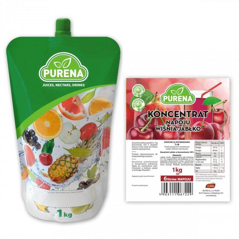 Napój wiśnia-jabłko koncentrat 6l/1kg
