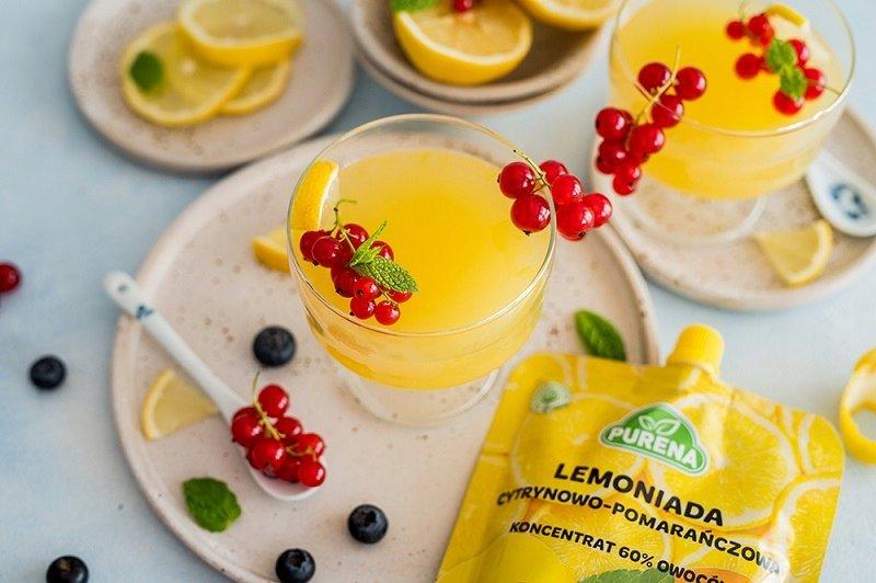 Lemoniada cytrynowo - pomarańczowa koncentrat 340g x 4 szt = 8 l