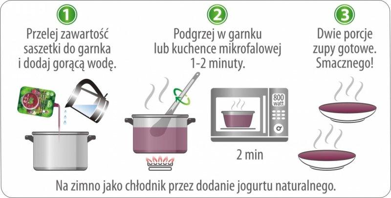 Zupa krem z buraczków czerwonych zagęszczona 350g = 2 porcje