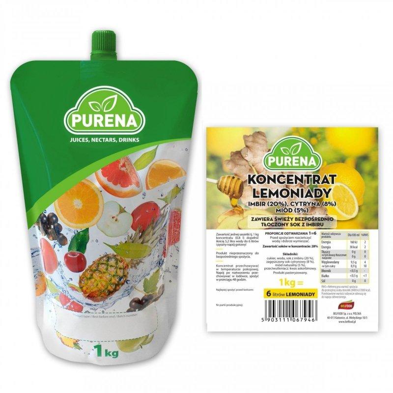 Lemoniada imbir-cytryna-miód koncentrat 6l/1kg
