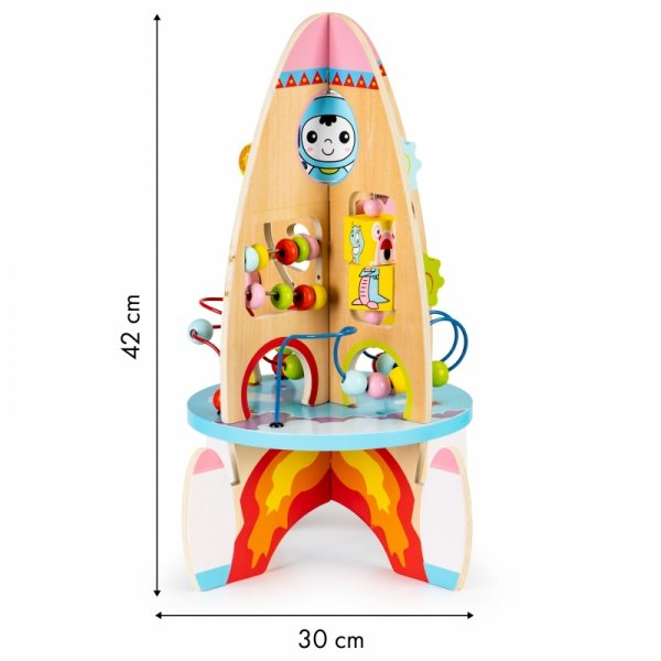 Motorikspielzeug 8in1 Rakete Holz Motorikschleife Motorik Baby Kleinkinder NEU Spielzeug Kindergeschenk