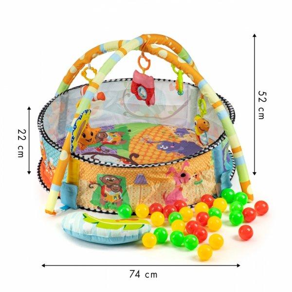 Pädagogische 3-in-1-Matte Laufstall Pool Spielzeugbälle