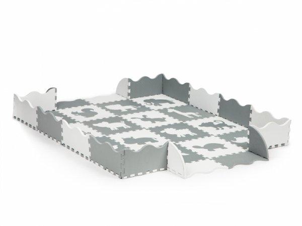 Trockene Pool Puzzle Schaumstoffmatte mit einem Zaun 36 Elemente