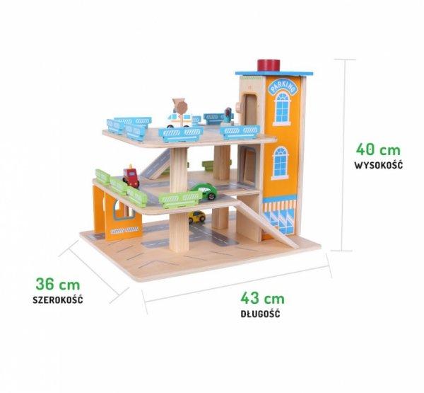 Parkgarage Parkhaus Holz-Spielgarage Lift Auto Garage Holzgarage Kinder Holzspielzeug + Zubehör