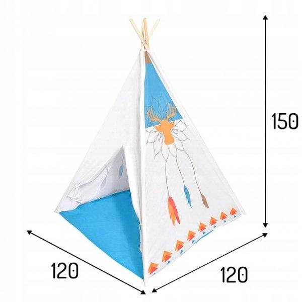 Kinderzelt Spielzelt Kinderspielzelt Indianer Wigwam Innen Außen Indianerzelt