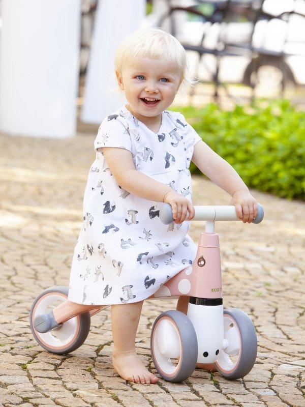 Ecotoys Laufrad FLAMINGO Rosa Lauflernrad Lernlaufrad Lernrad Kinderlaufrad Kind
