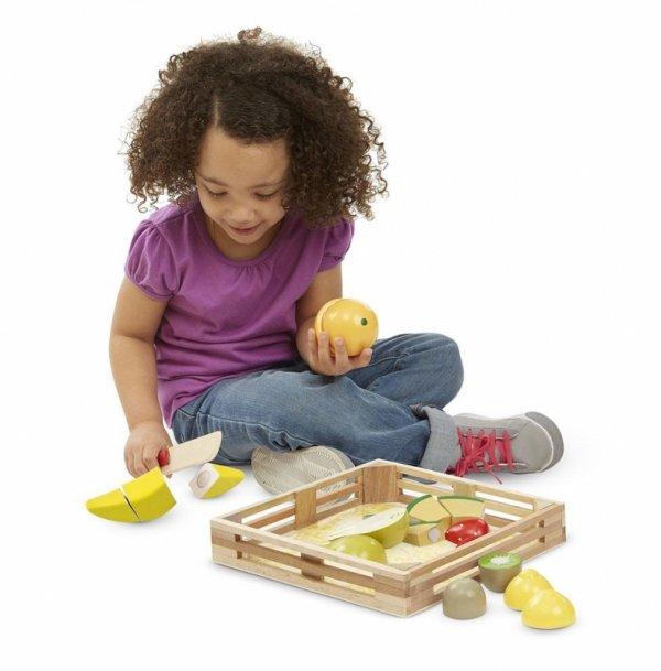 HOLZ OBST SET Spielzeug Lebensmittel