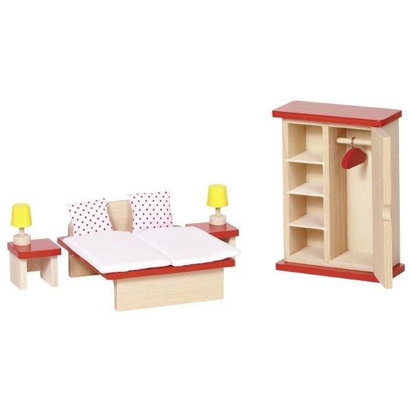 Puppenhaus Zubehörset SCHLAFZIMMERMÖBEL Möbelset