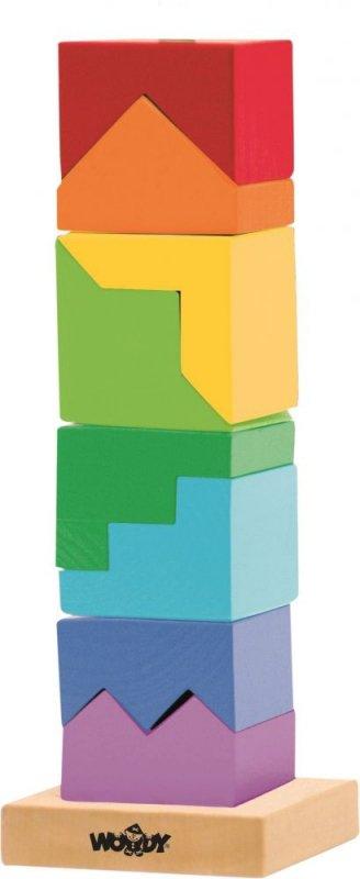Steckspielzeug TURM Steckpuzzle