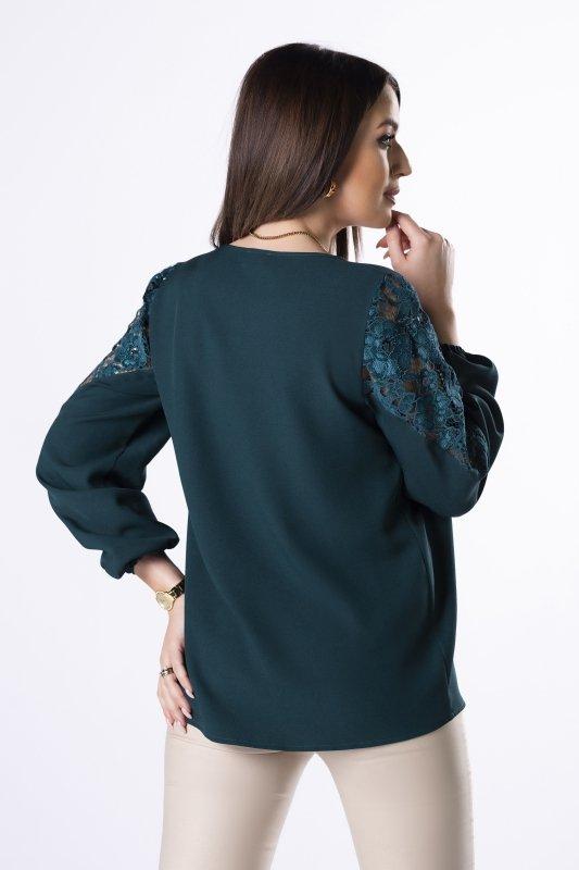 Bluzka Carla Lace M83027 Emerald