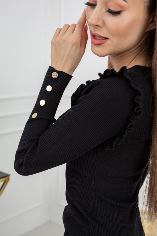 Sweterek Cindy Gold Buttons MCY02693 Black