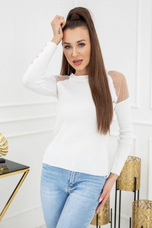Sweterek Eliza Tulle MCY02679 Ecru