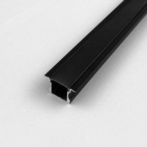Profil LP-G czarny wpuszczany 2m kpl. klosz zaślepki uchwyty